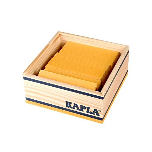 Kapla 9000156 Holzplättchen 40-teilig in Box, Gelb - 3