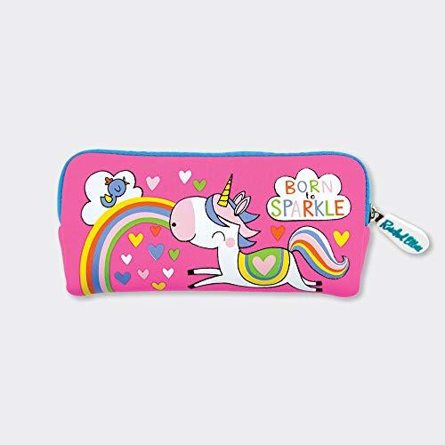 Rachel Ellen Designs - Estuche de neopreno, diseño de unicornio, color rosa
