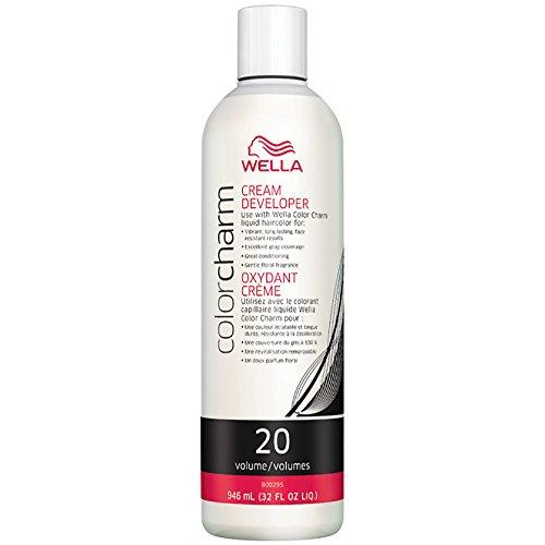 WELLA Color Charm Creme Hair Color Developer, 20 Volume, 32 oz