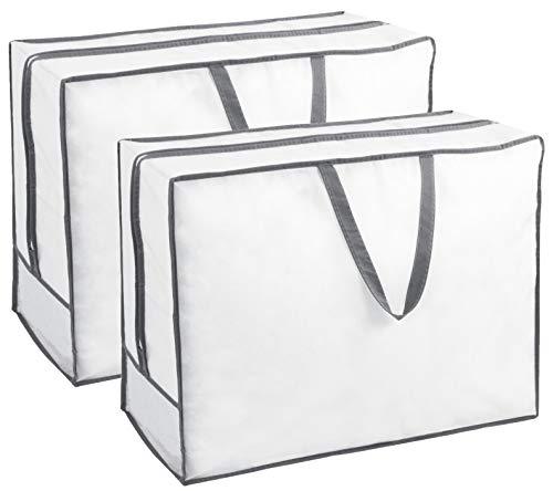 ZOLLNER 2 Bolsas de Almacenamiento de Ropa, Mantas y edredones, 65x25x50 cm