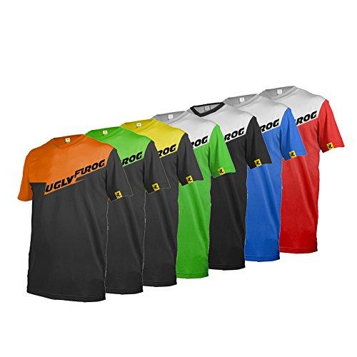 Uglyfrog 2017 MTB Downhill Trikot Kompressionsshirt Herren Kurzarm Fitness T-Shirt Freizeit Männer Laufshirt Printed und Klassisch Top Funktionswäsche SJFHB03