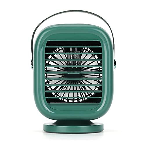 LXF JIAJU Mini Refrigerador De Aire Portátil Aire Acondicionado Extraíble Ventilador De Aire Acondicionado 120 ° Ajuste De Ángulo 2000MAH Batería 3 Engranajes Hogar Exterior (Color : Green)