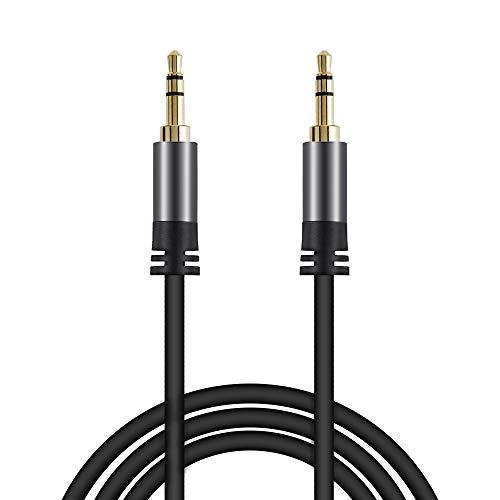 Aux Kabel 3,5mm Audio Kabel 1,2M Stereo Klinkenkabel, mit 3,5mm Klinkenstecker Verlängerungskabel, für Kopfhörer, PC, Tablet, HiFi-Receiver, Lautsprecher, Heim/KFZ Stereoanlagen, Smartphones, MP3 usw