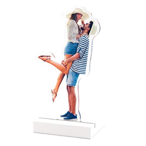 Plexipeople - Dein Foto auf Acrylglas - Personalisierte Geschenke auf Plexiglas - Einzigartige Fotogeschenke zur Geburt, Hochzeit UVM. S (max 15x18cm), Weiß