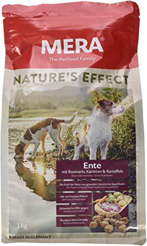 Mera Nature's Effect getreidefreies Hundefutter, Premium Trockenfutter für Hunde mit Ente Rosmarin Karotten Kartoffeln, 1er Pack (1 x 1 kg)