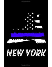 New York: A Blank Lined Blue Line New York Journal
