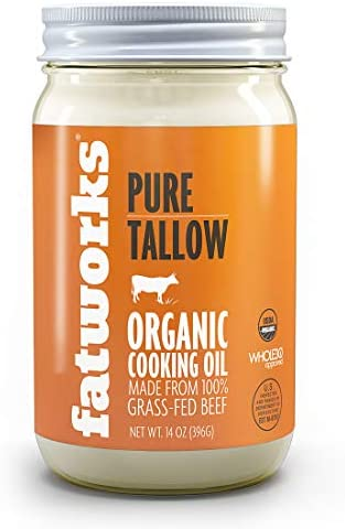 Fatworks Organic Grass Fed Beef Tallow Certified Organic Non Gmo Pasture Raised Beef Tallow product image