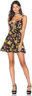 Free People Women's Lattice Lovers Mini Slip Black Combo Dress