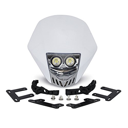 Fast Pro Lot de 2 ampoules LED 5 W 12 V universelles pour phare de moto Dirt Pit Bike – Blanc