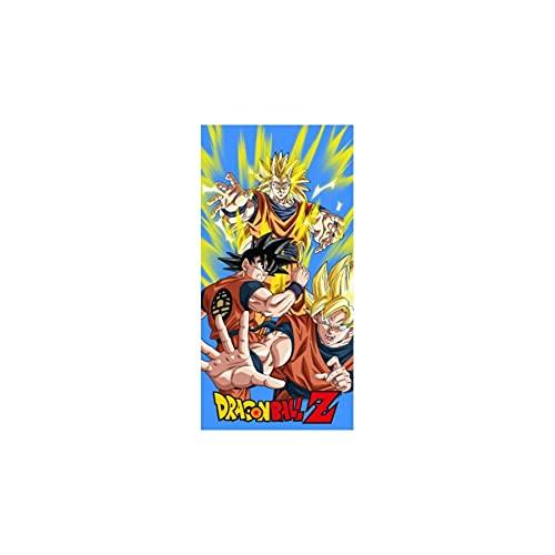 Dragon Ball Z Goku Sayajin - Toalla de Playa Personajes, 100% Algodón