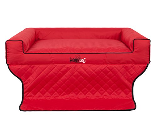 Hobbydog R1 Viki Hondenmand/Bed/Slaapbank Geschikt voor Trunks, 90 x 70 cm, Rood