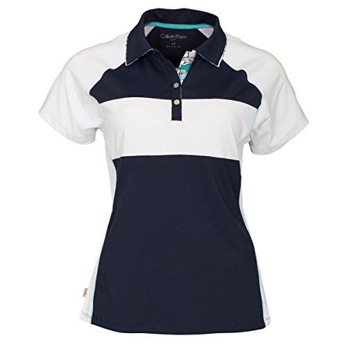 Calvin Klein - Camisa deportiva - para mujer blanco Blanco / Azul Marino 8