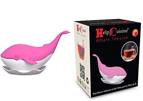 HelpCuisine® teesieb teeei teefilter Tea Infuser teekugel, teesieb (WalTeesieb (pink))