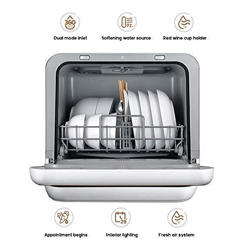 YFDD Geschirrspüler, Automatische Haushalt einfacher völlig intelligenter Geschirrspüler 360 Grad zu installieren;Keine Toten Winkel Reinigung aijia