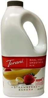 Torani Strawberry Banana Real Fruit Smoothie Mix, 64 oz