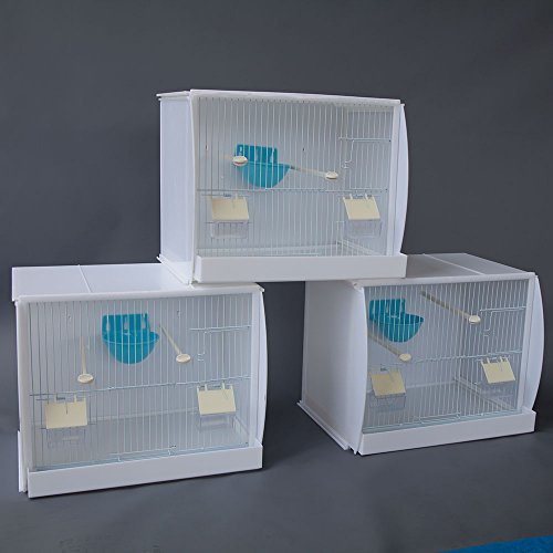 Flyline Lot of 3 Stackable Canary Finch Breeding Bird Cage with Nest Pan