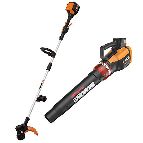 WORX WG926 Turbine 56V 13' Cordless String Trimmer/Edger & Leaf Blower Bare Tool Combo Kit - No Battery/Charger Included