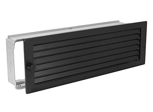 Warmluftgitter WG 4515 S Schwarz 450 x 150 mm mit Einbaurahmen