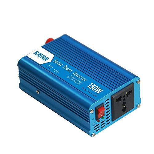 AZHom 150w reinen Sinus-Wechselrichter, der Wechselrichter Fahrzeugbordhaushalt Fotovoltaik-Wandler UE