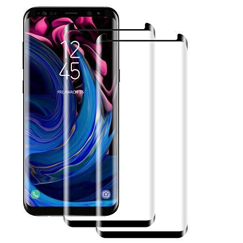 NUOCHENG Protecteur D'écran en Verre Trempé pour Samsung Galaxy S8,Lot de 2 Film Protection écran en Protecteur Vitre - sans Bulles - HD Ultra Résistant - Dureté 9H pour Samsung Galaxy S8