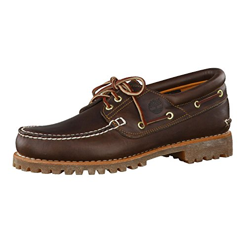 Timberland Herren Authentics 3 Eye Classic Bootsschuhe, Braun (Brown Pull Up), 41 EU