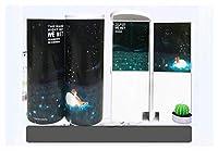 男子の女の子の学校の文房具ポータブルのための鏡の電卓の大容量鉛筆の箱との多機能 (サイズ : Starry sky B)