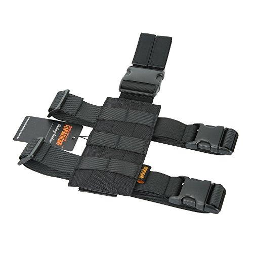 EXCELLENT ELITE SPANKER Tactical Drop Leg Holster Adjustable Drop Leg Platform Molle Module Universal Bag for Left/Right Leg(Black)