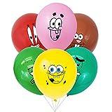 Ksopsdey Globo Bob Esponja Party Supplies 36pcs Bob Esponja Tema Cumpleaños Party Globos Fiesta de cumpleaños Suministros Globo Decoración para niños Baby Shower Fiesta Decoración