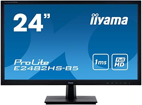 iiyama ProLite E2482HS-B5 61 cm (24 Zoll) LED-Monitor Full-HD (VGA, DVI, HDMI) schwarz