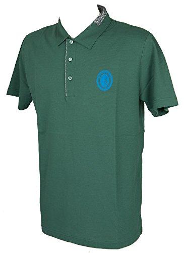 Trussardi Kurzarm Herren Poloshirt mit Kragen und Knöpfe Artikel TB612G, 517 Verde Scuro, XL