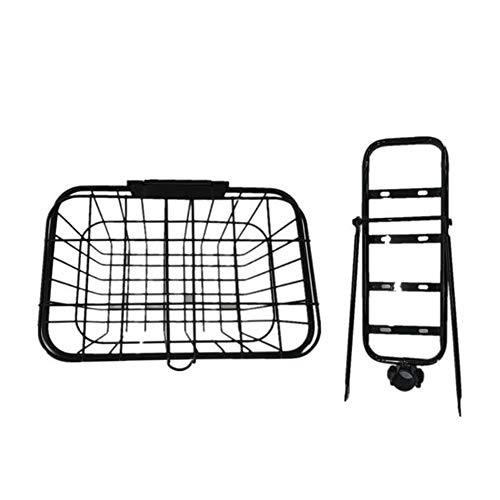 SUIBIAN Erwachsene elektrische Roller Basket, Stahl Einkaufskorb mit Deckel, Rück Commuter Cailouzi mit Halterung,...