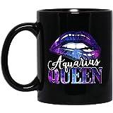 N\A Taza Cita de la niña Azul del Labio de la Reina de Acuario sobre el cumpleaños de Acuario