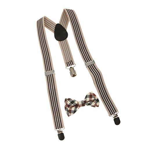 Sharplace Juego de Cuadros Corbata Ajustable Tirantes Traseros para Chicos Niños - # 1,/