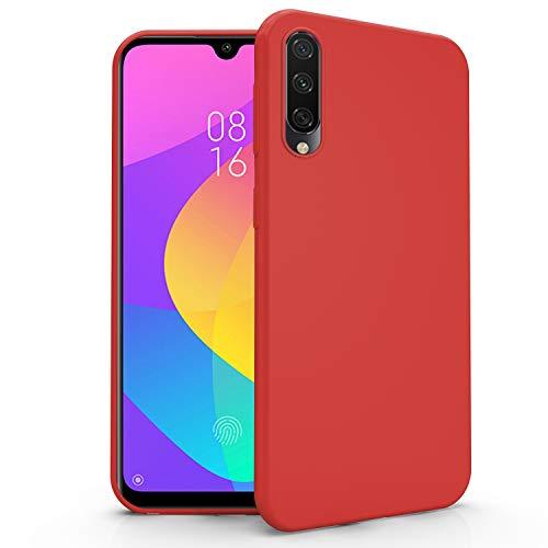 N NEWTOP Cover Compatibile per Xiaomi Mi A3, Custodia TPU Soft Gel Silicone Ultra Slim Sottile Flessibile Case Posteriore Protettiva (Rosso)