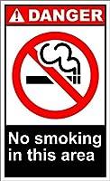 この地域危険なOSHA/ANSI金属徴候の禁煙