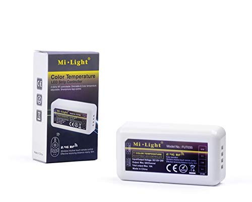 Kingled - Mi-Light WiFi CCT LED-Lampe, Controller für LED-Streifen und Fernbedienung M2 FUT011 B2 FUT017 FUT035 Dual White (Empfänger für zwei weiße LED-Streifen)