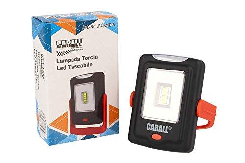 CARALL Lampe de poche LED avec 3 piles AAA Crochet magnétique
