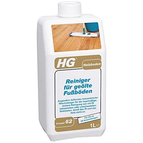 HG Reiniger für Geölte Fußböden 1L – Holzbodenreiniger - Reiniger für Geölte Fußböden - Mit Wunderbarem Duft