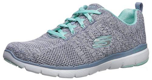 Skechers Women's Flex Appeal 3.0-HIGH Tides Sneaker, Slate, 9H M US