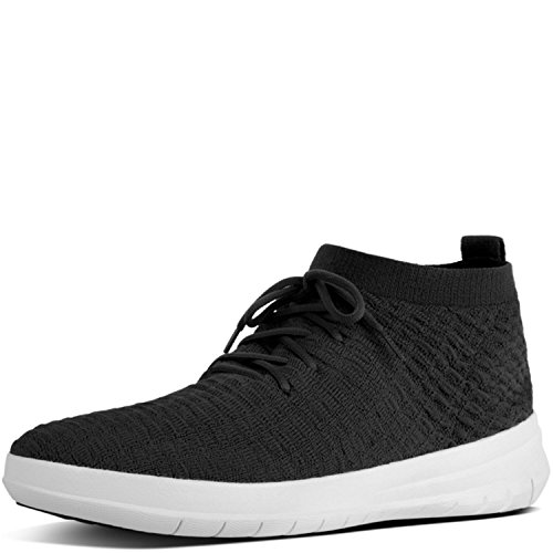 Fitflop Herren Uberknit Slip-on High Top Waffle Sneaker, Schwarz (Black 001), 47 EU