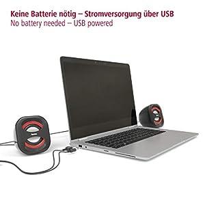 "Notebook-Lautsprecher ""Sonic Mobil 183"", schwarz/rot"