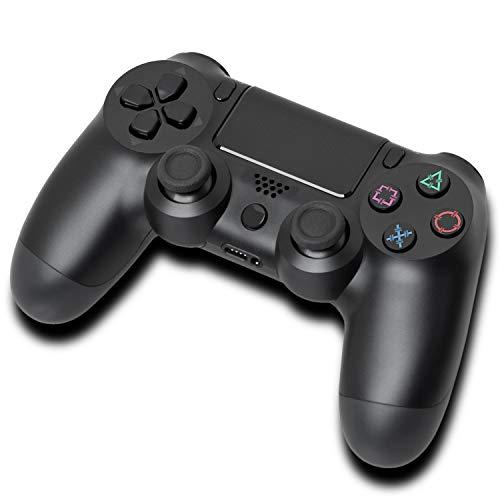 Manette PS4, Manette de Jeu Sans Fil pour PlayStation 4 avec Vibration Intense, Détacteur de Mouvements Six Axes, Sortie Audio 3.5 mm - Noire