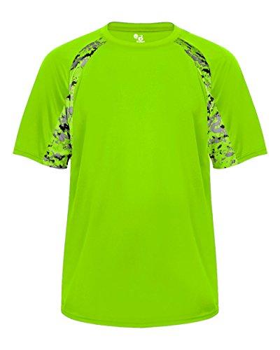 Badger Sport Lime Bright Green Digi-Camo Youth SM Short Sleeve