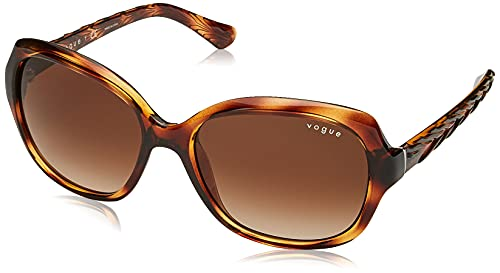 Vogue Eyewear 0vo2871s Gafas de Sol, Striped Dark Havana, 56 mm para Mujer