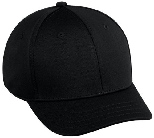 Baseball Home Plate Umpires ProFlex Fitted Cap BLACK (LARGE/XL) 2