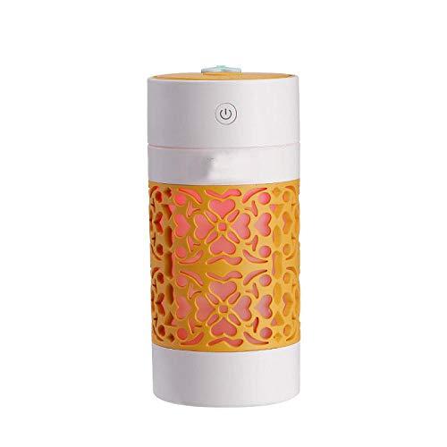 YUDY draagbare luchtbevochtiger voor thuis, slaapkamer, kantoor, auto, met gekleurde ledlampen, USB-opladen, met koude nevel, schone lucht, geluidsarme luchtreiniger.