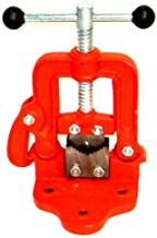 (Best tools) Bench Pipe Vise Yoke Hinged Clamp on Type Pipe Threader Plumbing Vice Tools #1