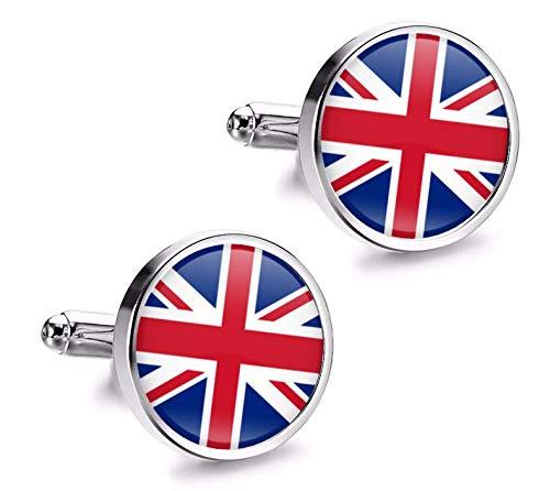 Gemelolandia   Gemelos de Camisa Magglass Bandera United Kingdom UK Gemelos Originales...