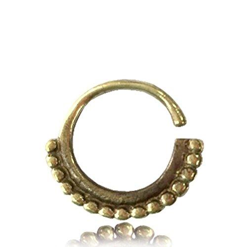 Chic-Net septum piercing neusringen veel kogels messing 1 mm goudkleurig antieke oorbel
