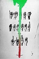 ヤングサグミュージックアルバムジェフリーラップヒップホップスターアート絵画キャンバスポスター壁家の装飾-50x75CMフレームレス